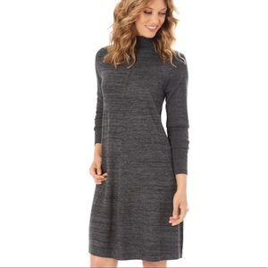 Apt. 9 swingy charcoal turtleneck dress